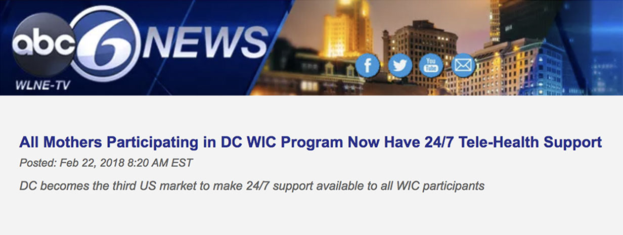 "ABC News Reads: ""All Mothers Participating in DC WIC Program Now Have 24/7 Telehealth Support"""
